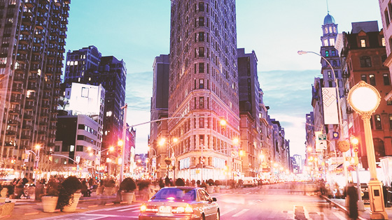 The Flatiron Building in New York
