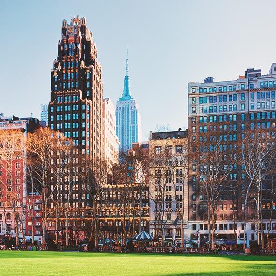 Bryant Park in Midtown Manhattan NYC