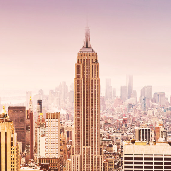 The iconic Empire State Building in New york City